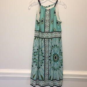 London Times Blue Print Dress sz 14